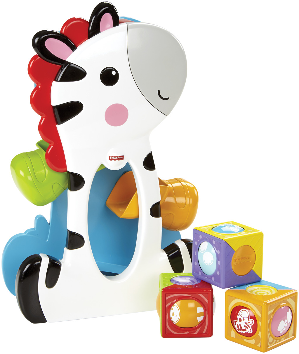 All4toys Fisher Price zebra a kostky