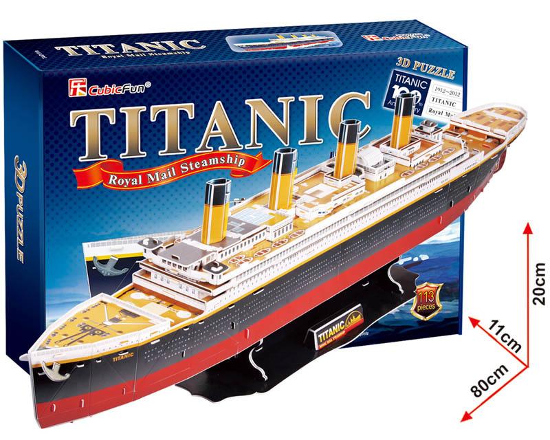 All4toys Puzzle 3D Titanic – 113 dílků