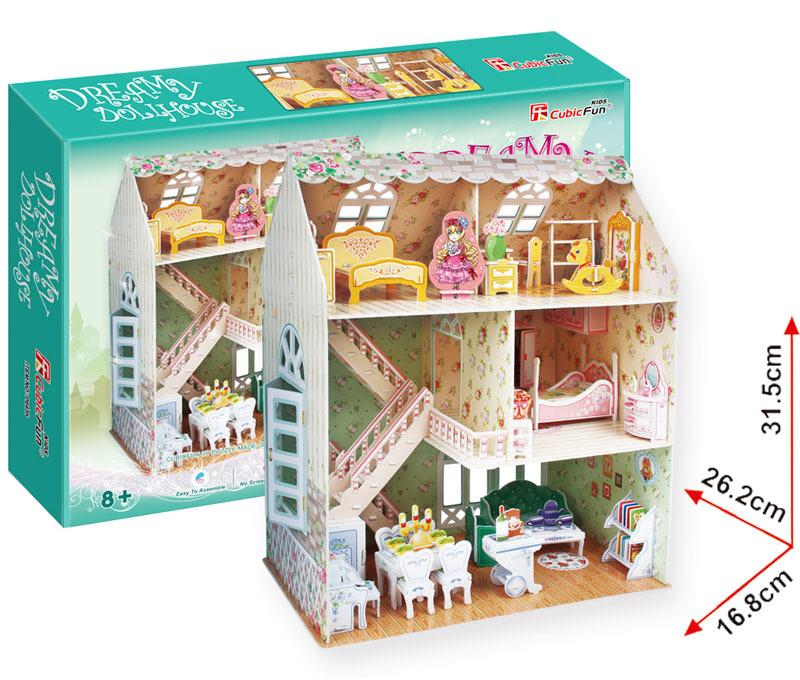 All4toys Puzzle 3D Domek snů pro panenky – 160 dílků