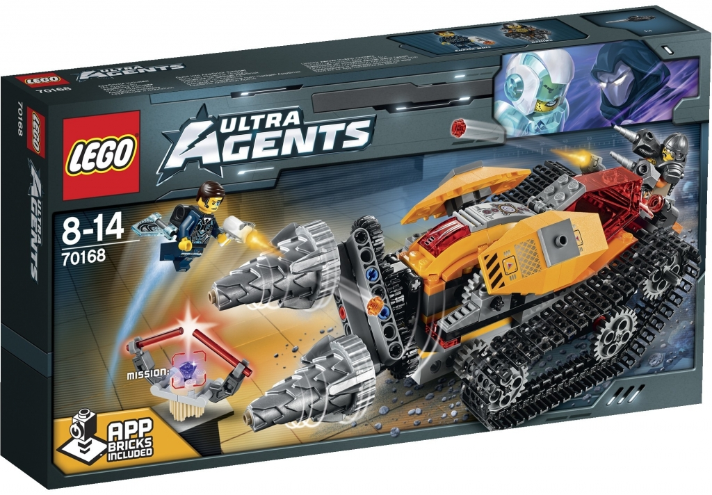Lego Agents 70168 Drillex krade diamant