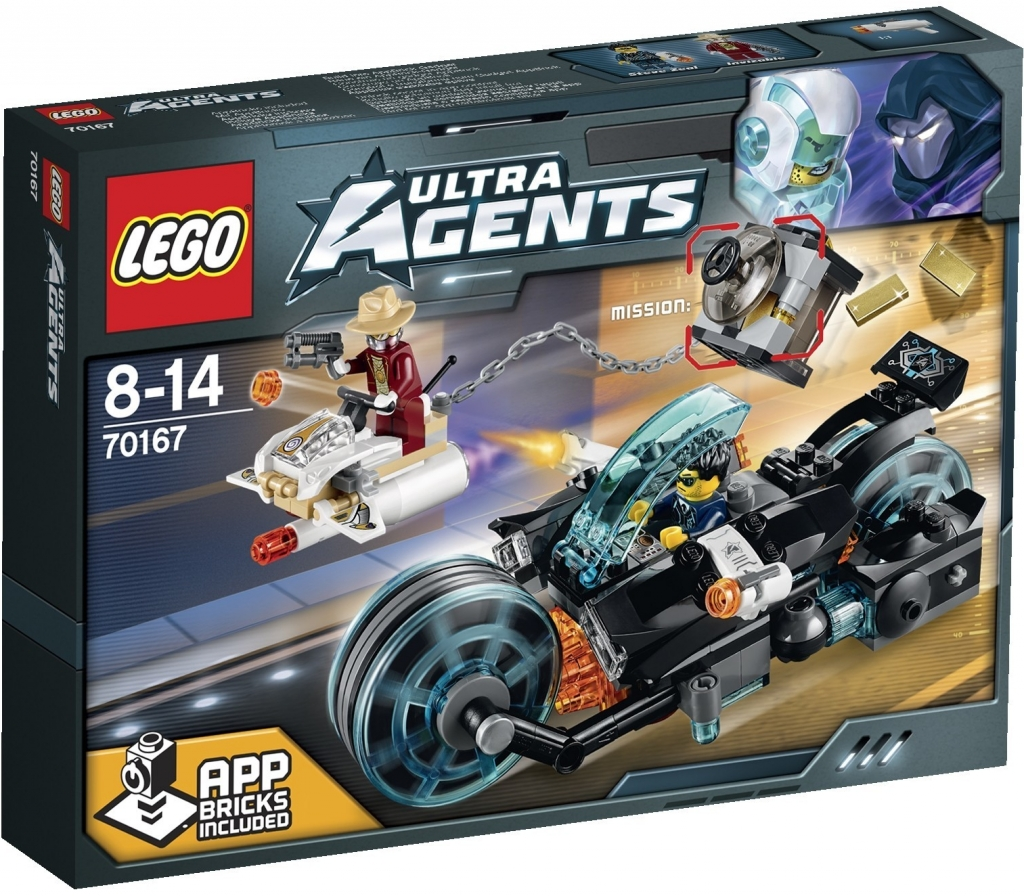 LEGO 70167 ULTRA AGENTS Invizable utíká se zlatem