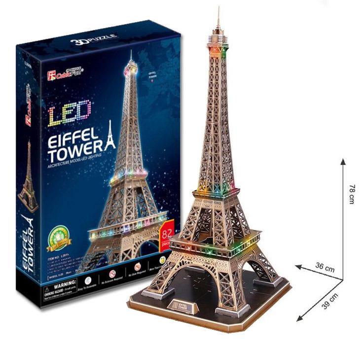 All4toys Puzzle 3D Eiffelova věž / led - 82 dílků