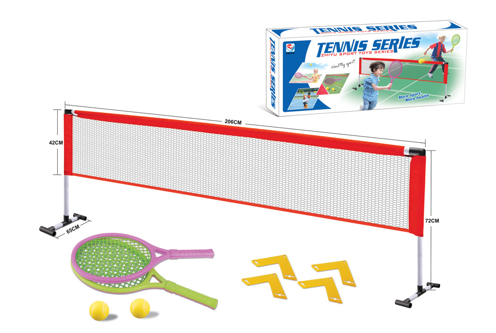 All4toys Síť se dvěma pálkami na soft tenis