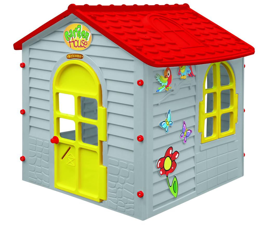 All4toys Mochtoys Malý zahradní domek šedý