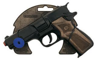 All4toys Gonher Policejní pistole černá kovová 8 ran