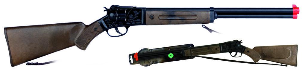 All4toys Gonher Puška kovbojská černá kovová - 12 ran