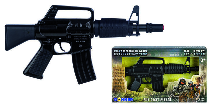 All4toys Gonher M-136 Samopal policejní černý - 8 ran