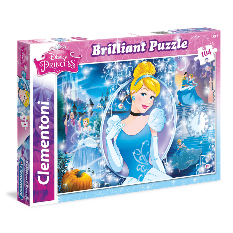 All4toys Puzzle Briliant Popelka 104 dílků