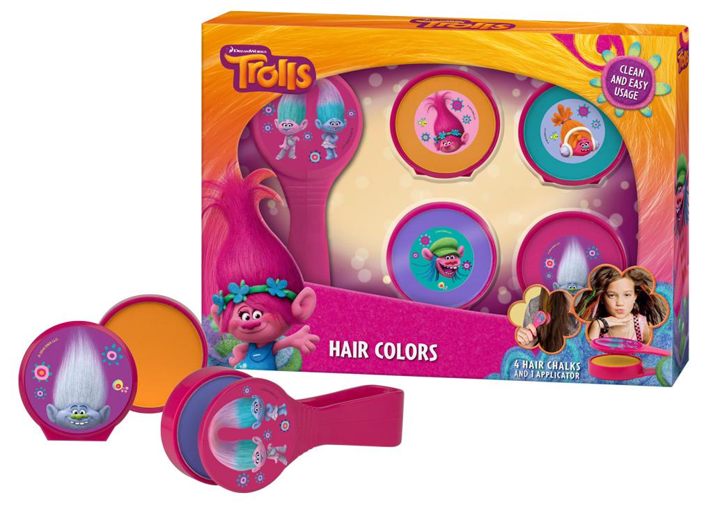 All4toys Křídové barvy na vlasy s aplikátorem Troll