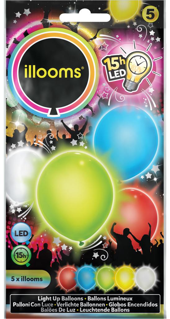 All4toys Svítící LED balony - barevný mix 4ks