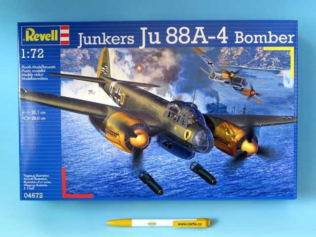All4toys Plastic Kit letadlo 04672 Junkers Ju 88 A4 Bomber 1:72