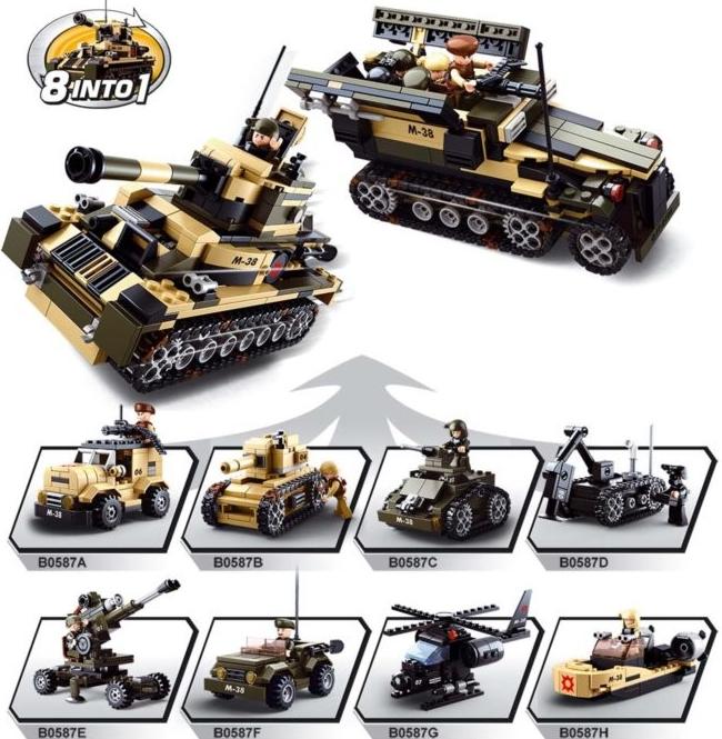Sluban ARMY 8v1 M38-B0587 Tank nebo Obrněný transportér