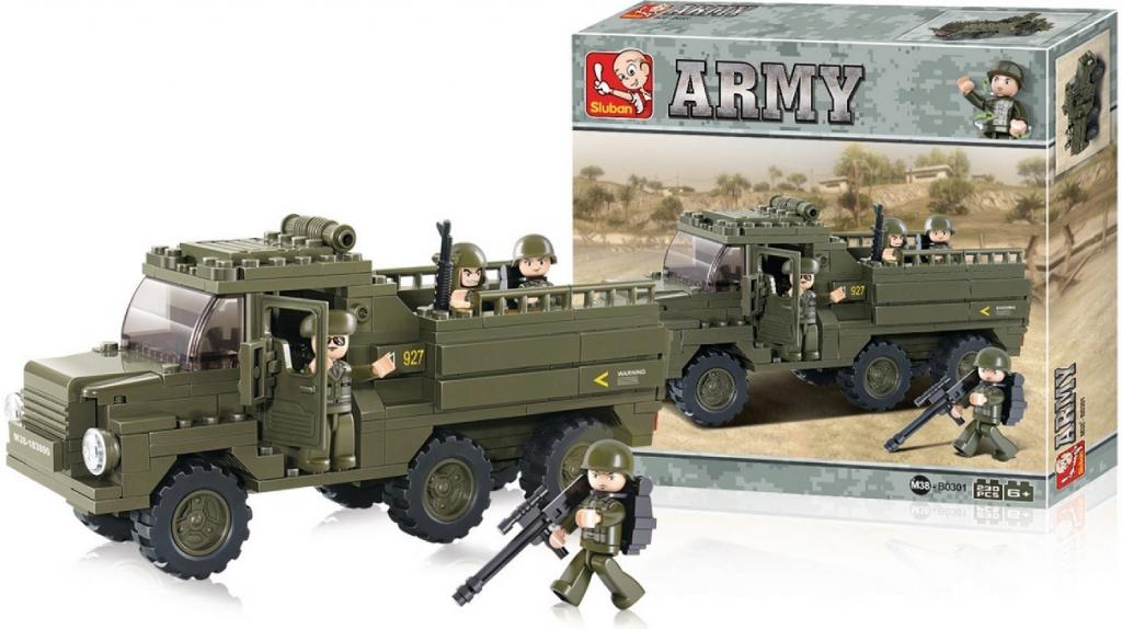 Sluban B0301 Army Vojenské nákladní auto 230 dílků