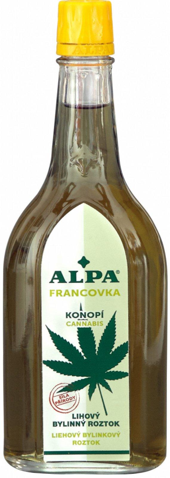 Alpa Francovka bylinný lihový roztok Konopí 60 ml