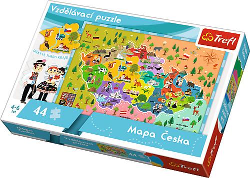All4toys Puzzle vzdělávací 44 dílků Mapa Česka
