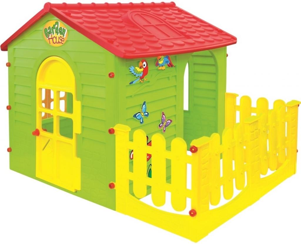 All4toys Mochtoys Dětský zahradní domek s plotem