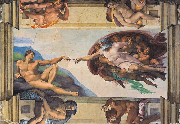 All4toys PUZZLE CLEMENTONI, Michelangelo, 6000 DÍLKŮ - STVOŘENÍ ADAMA