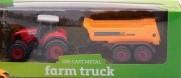 All4toys Traktor kovový s přívěsem