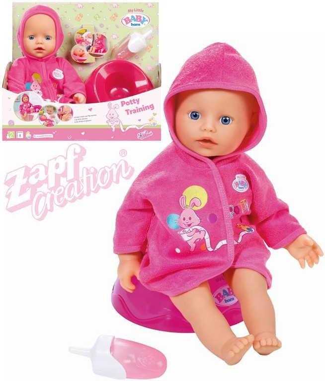 All4toys Zapf My Little BABY born panenka Učím se na nočník
