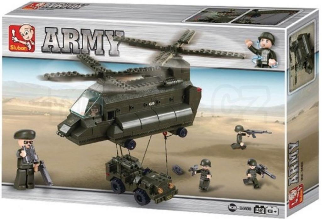 All4toys Sluban B6600 Army Přepravní vrtulník 370 dílků