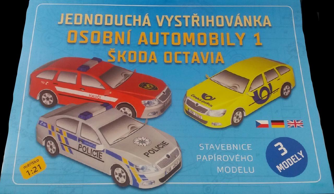 Stavebnice papírového modelu Osobní automobily 1 Škoda Octavia