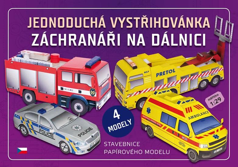 Stavebnice papírového modelu Záchranáři na dálnici