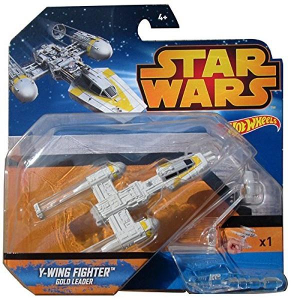 Mattel Hot Wheels Star Wars kolekce hvězdných lodí Y-Wing Fighter Gold Leader