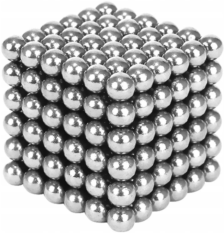 Magnetické kuličky NeoCube 5 mm Stříbrné