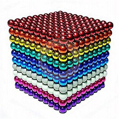 NeoCube 10 barev magnetické kuličky 5mm 1000 ks Barevné