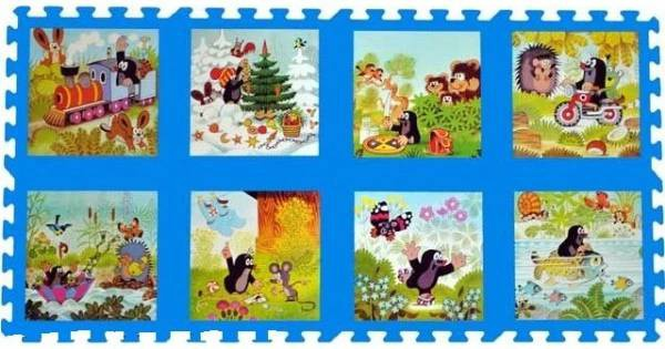 All4toys Pěnové puzzle Krtek 30x30 cm, 8ks