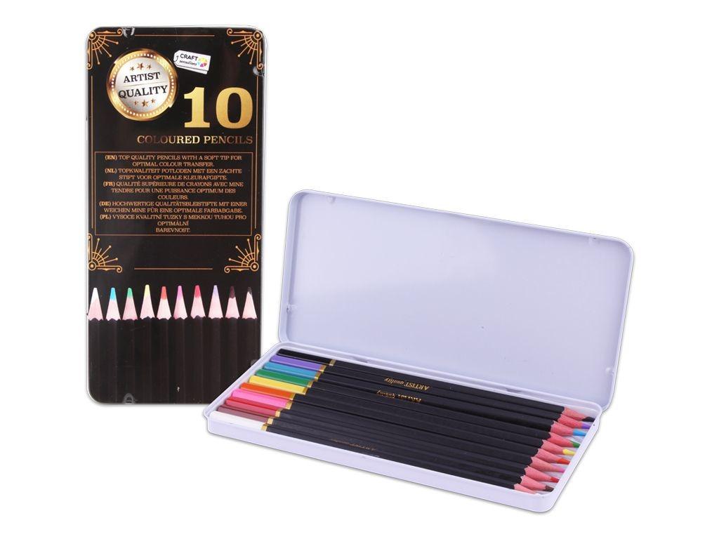 Craft Pastelky Exclusive art v plechové krabičce 10 ks