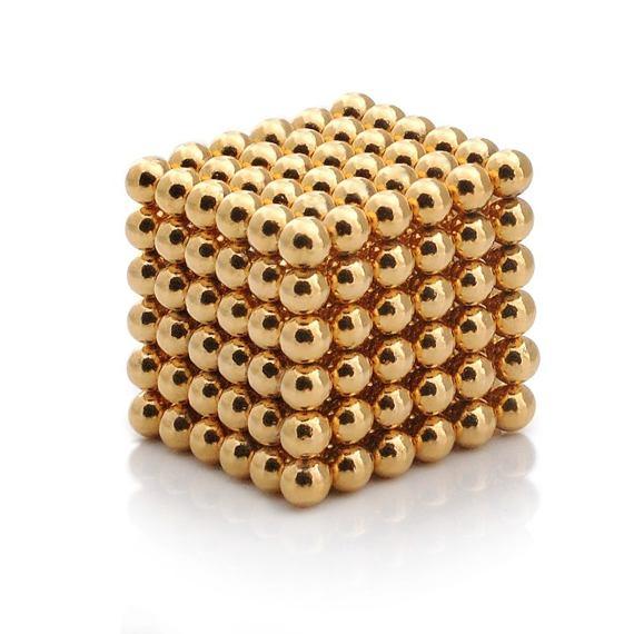 NeoCube Magnetické kuličky zlaté – magnetická stavebnice, 216 kuliček