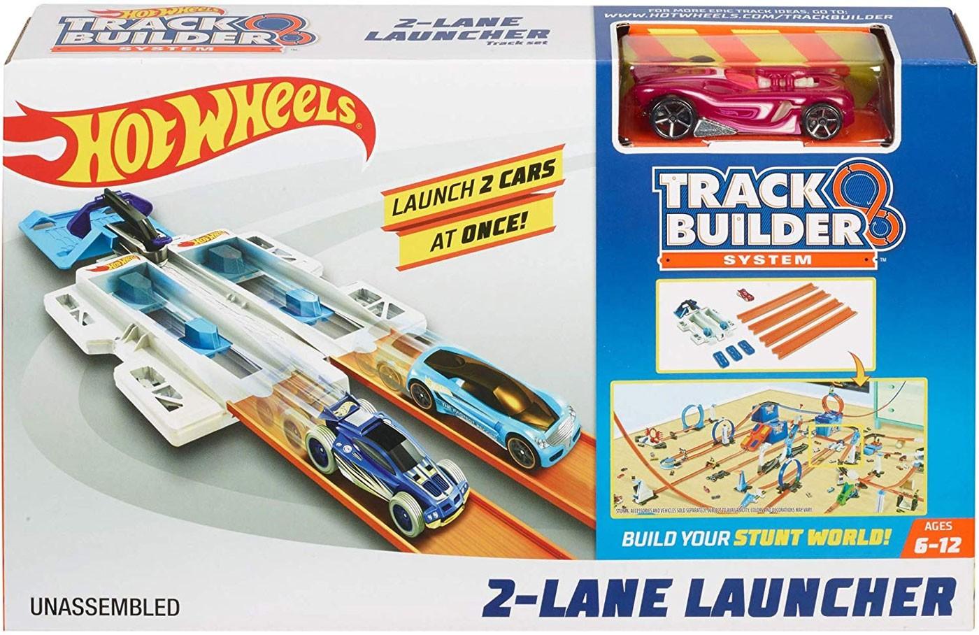 Hot Wheels Track Builder doplňky a dráhy 2 Lane Launcher