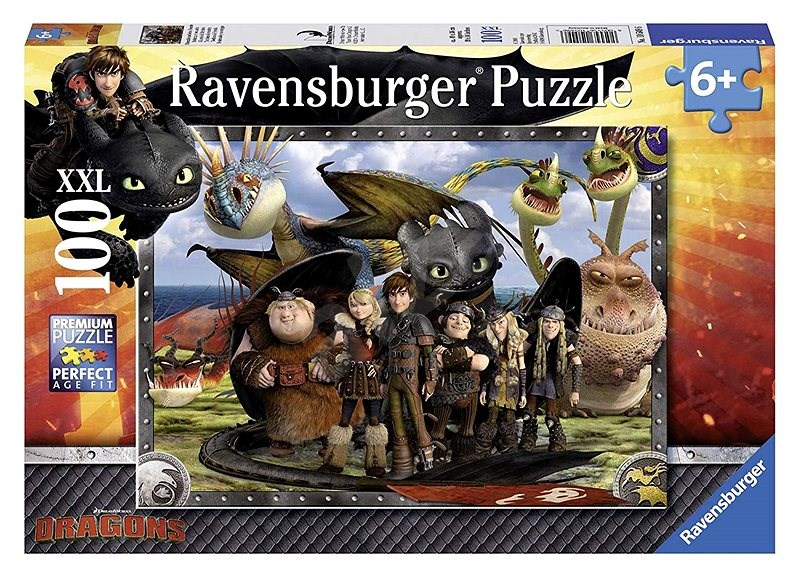 Ravensburger Jak vycvičit draka: Bezzubka a přátelé XXL 100 dílků