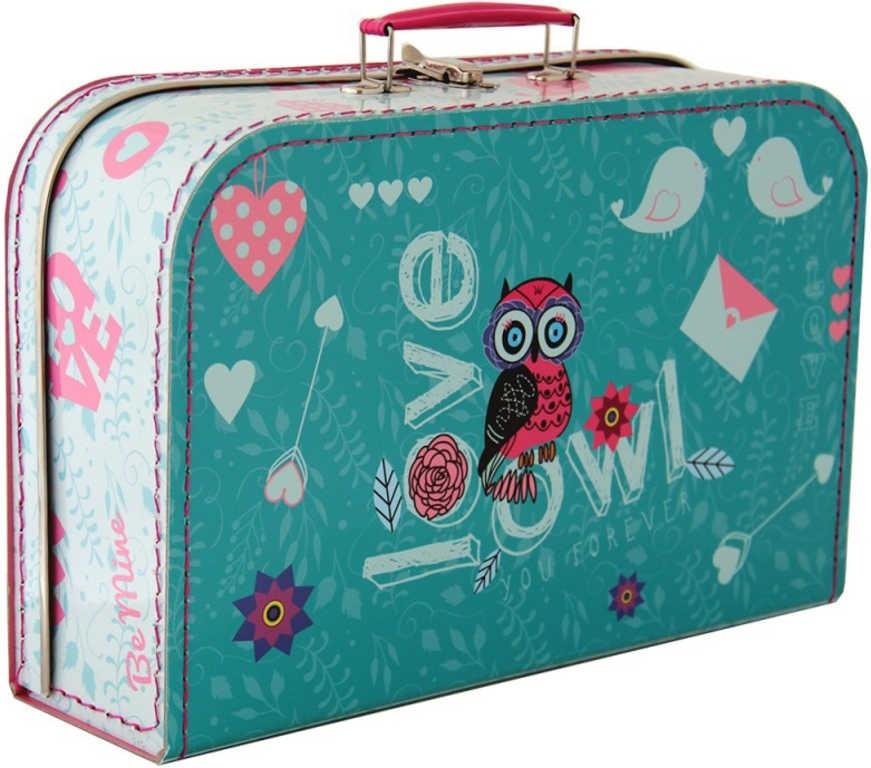 Kazeto Dětský kufřík Sova velký pro holčičky