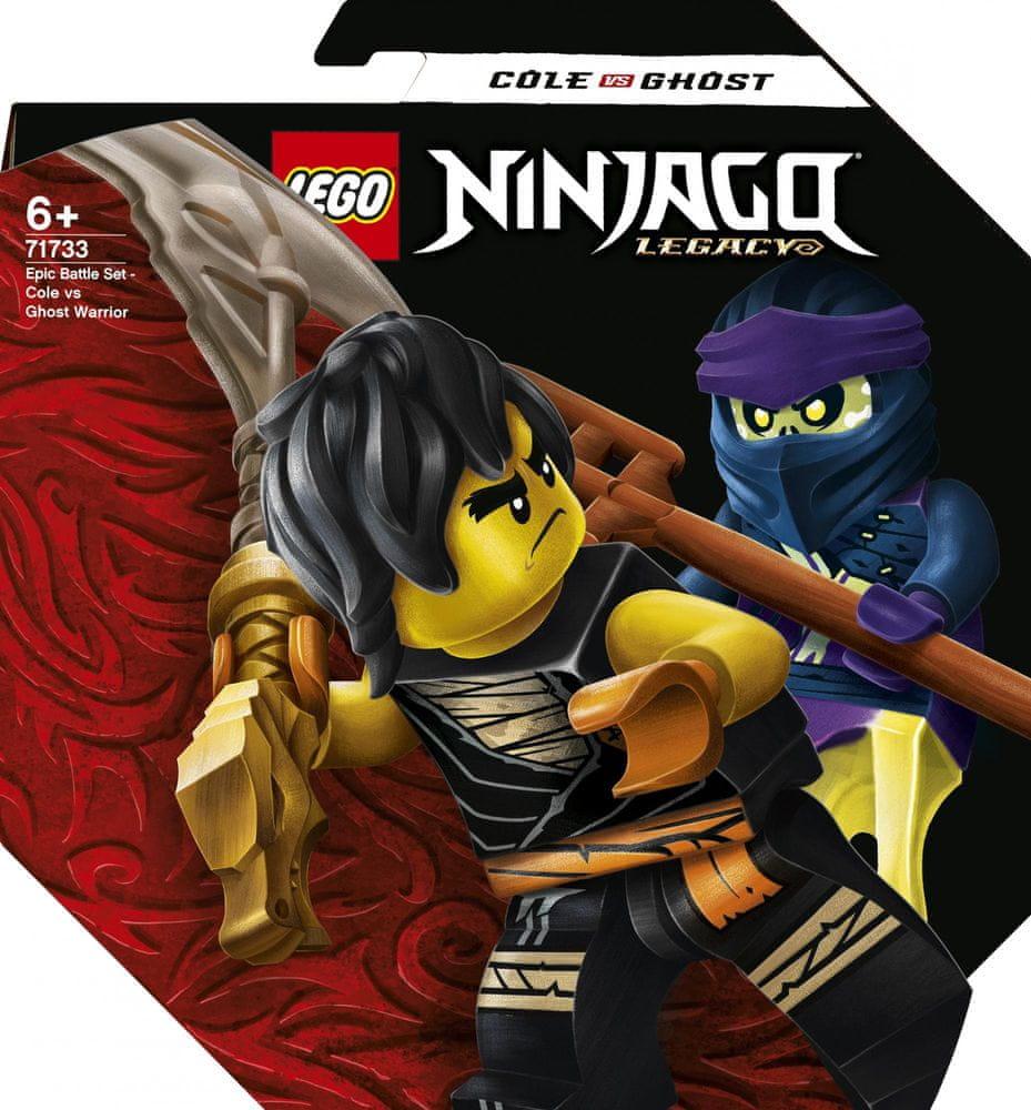 LEGO Ninjago 71733 Epický souboj – Cole vs. přízračný válečník