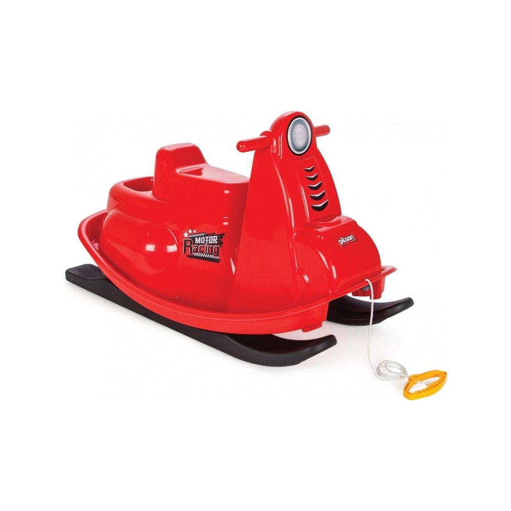 Plastkon Sáňky plastové SNOW MOTORCYCLE červená 86 cm