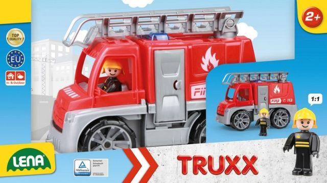 LENA Auta Truxx hasiči v krabici