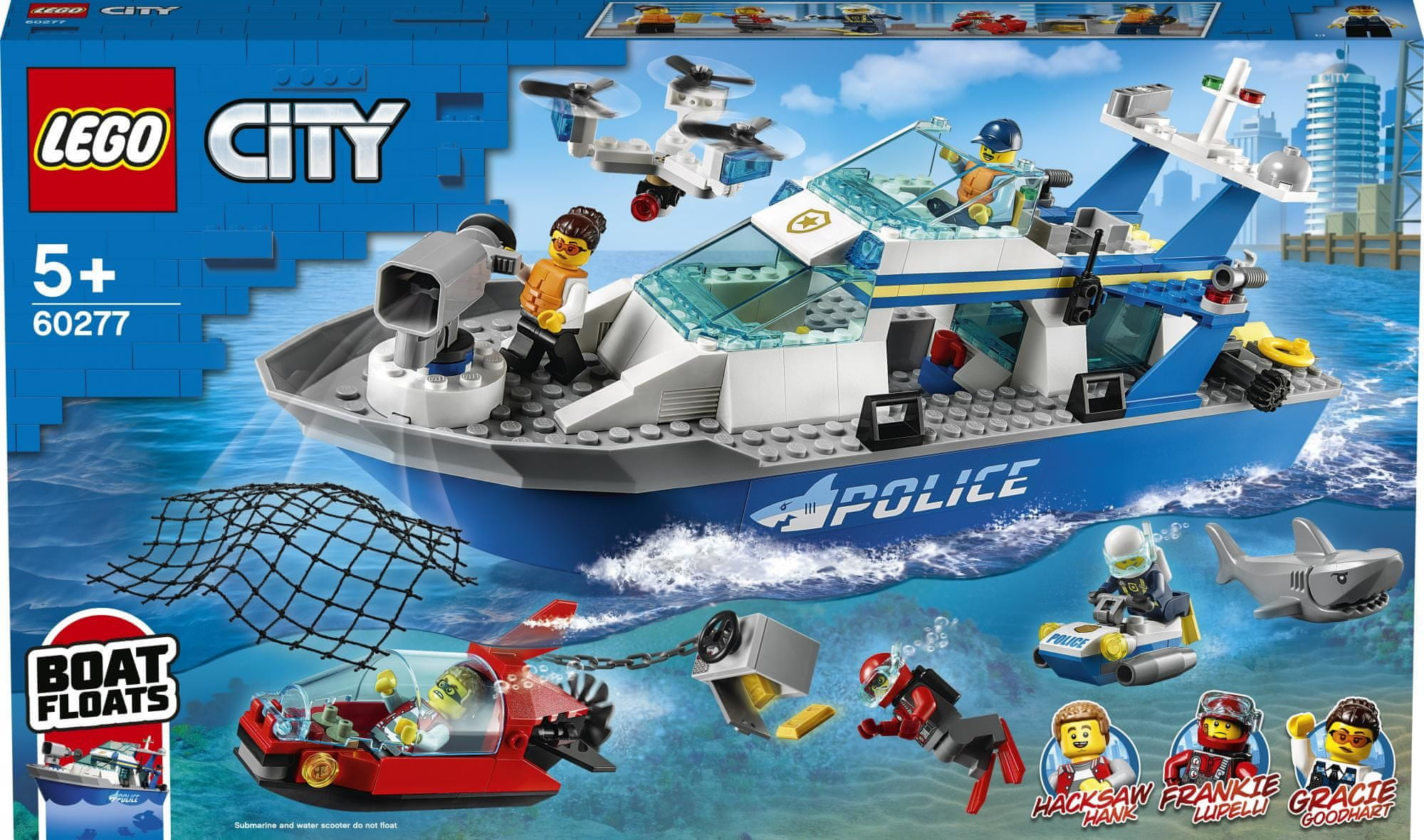 LEGO City Police 60277 Policejní hlídková loď
