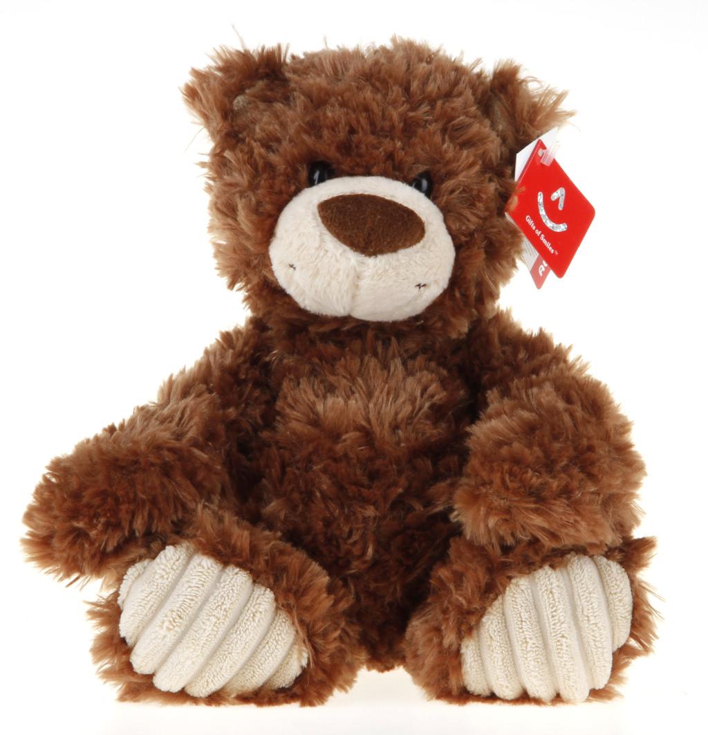 All4toys Medvěd plyšový hnědo-bílý 25cm