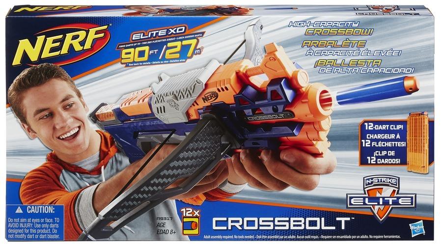 Hasbro NERF Elite Crossbolt kuše se zásobníkem