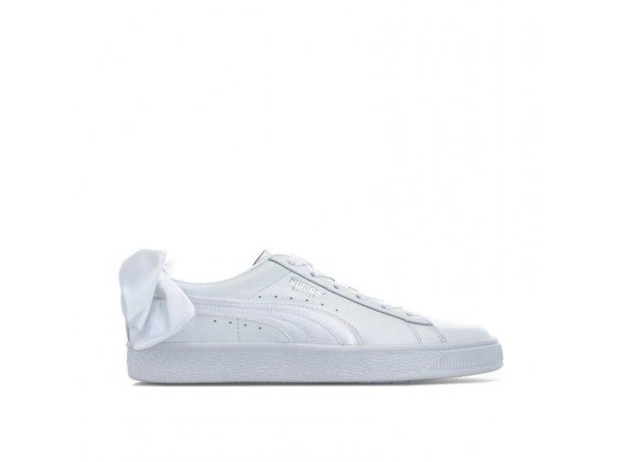puma womens basket bow trainers white 37120 20