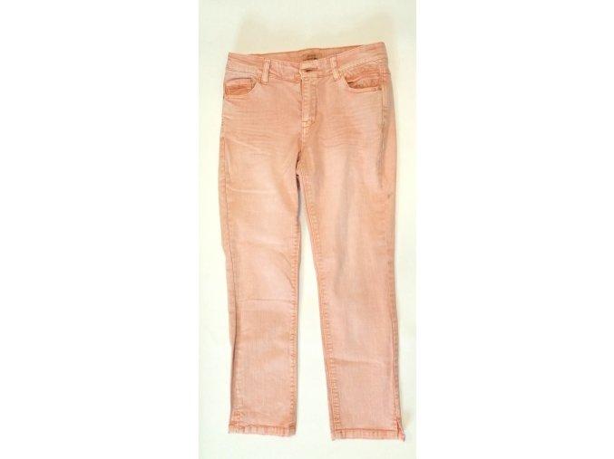 Dámské džíny Phildar růžové, nad kotník (Velikost 42)