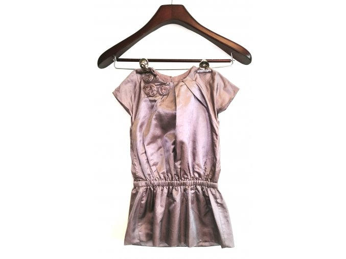 Dívčí šaty Marése - šedofialové (Velikost 94)