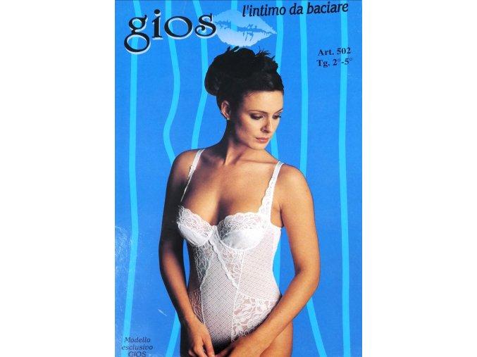 Dámské elegantní body na ramínka s kosticemi Gios (Gios černá 4)