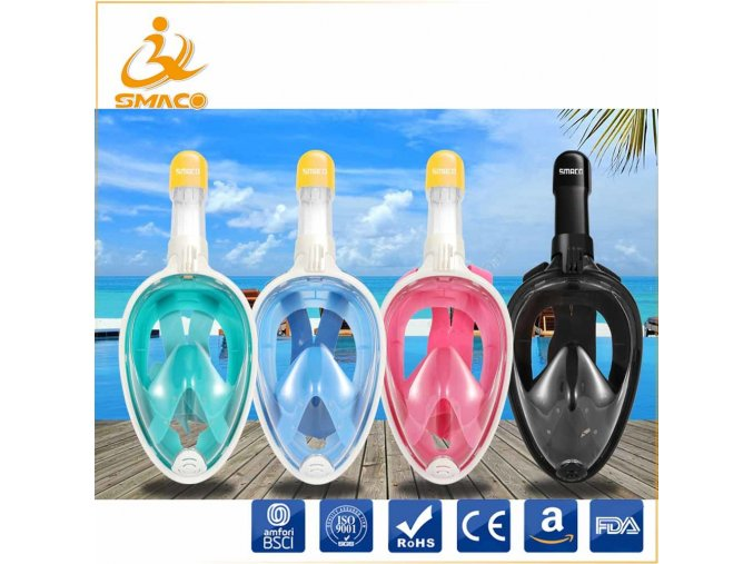 Diving Free Breath Snorkeling Mask with Anti Fog Anti Leak Technology
