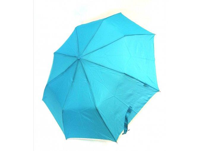 B.Cavalli- automatický deštník jednobarevný, světlý lem (Barva zelená)