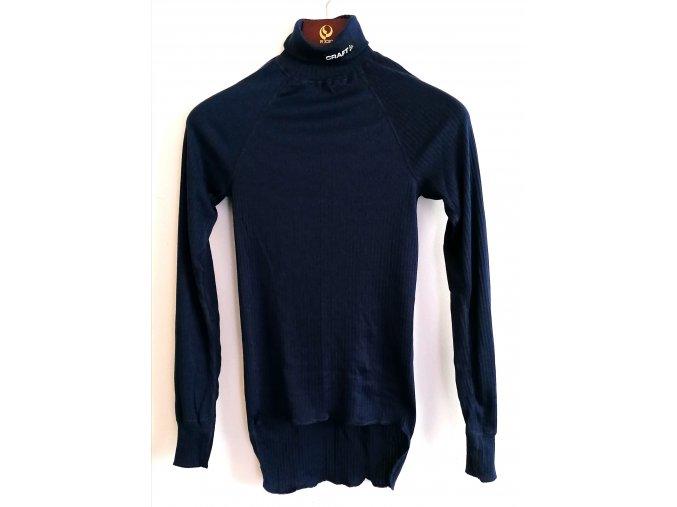 Pánské funkční triko, dlouhý rukáv, rolák, tmavě modré- CRAFT (Velikost XS)