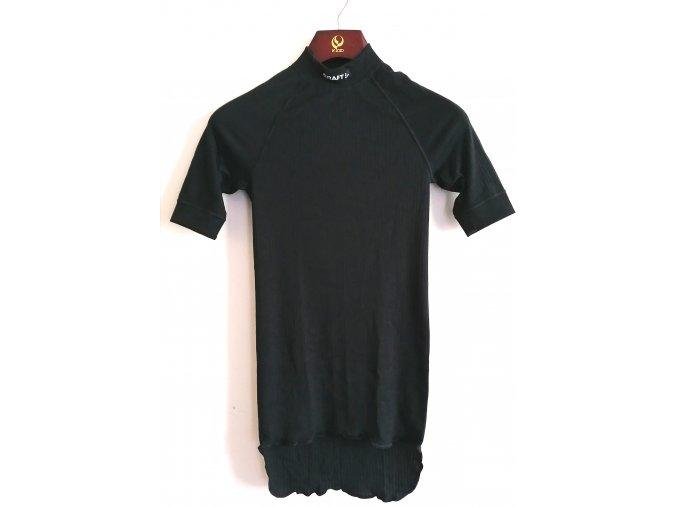 Pánské funkční tričko, krátký rukáv, stojáček- černá (Velikost S)