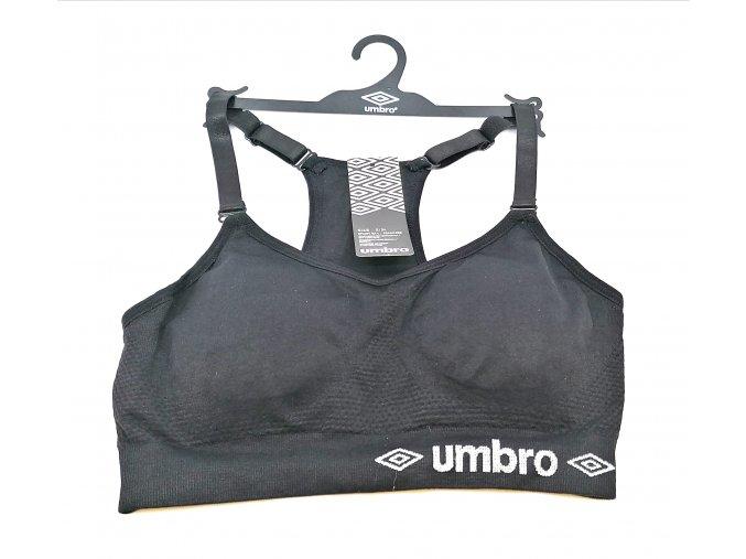 Sportovní bezešvá podprsenka UMBRO , vyjímatelné vycpávky, černá